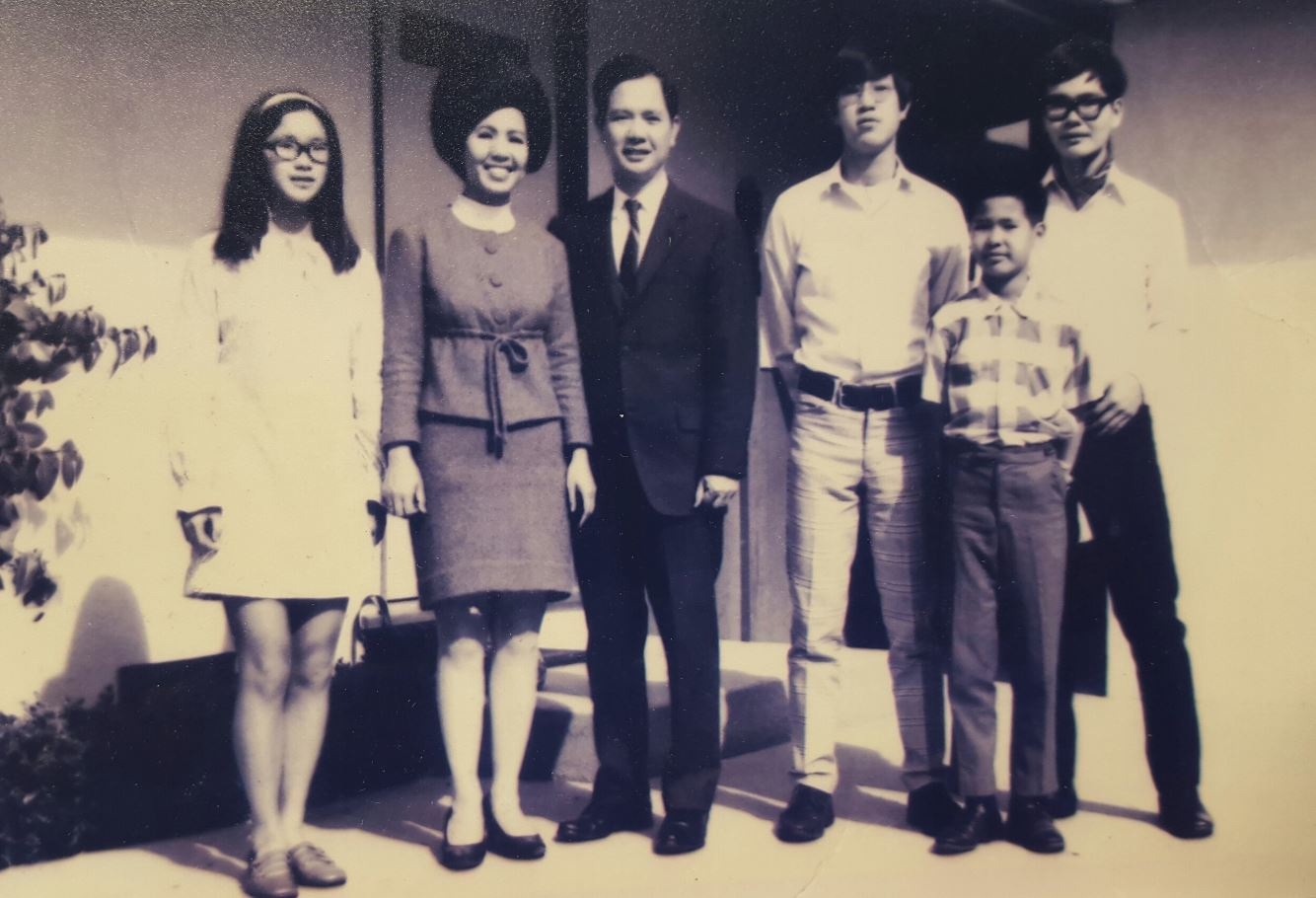 """This picture was taken in 1969, Monterey. The Dovan clan had been one of the first Vietnamese families to emigrate to the US. The patriarch, Hien Dovan was offered a teaching post at the Language Institute on the West Coast and came over during the Eisenhower administration in 1957; his family soon followed. At school the young Dovans were thought to be either Koreans (because of the recent Korean War), Chinese or Japanese because at that time very few people had ever heard of Vietnam."""