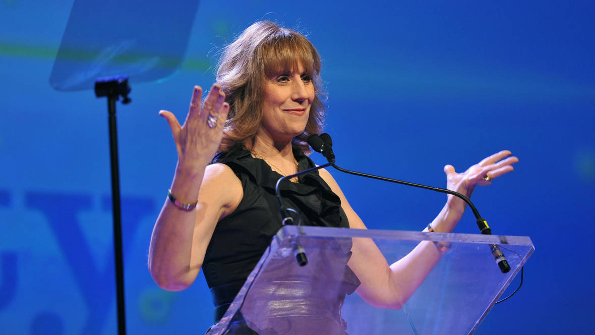 Lizz Winstead speaks onstage at the PFLAG National Straight For Equality Awards at Marriott Marquis Times Square  Photo: D Dipasupil/Getty Images for PFLAG