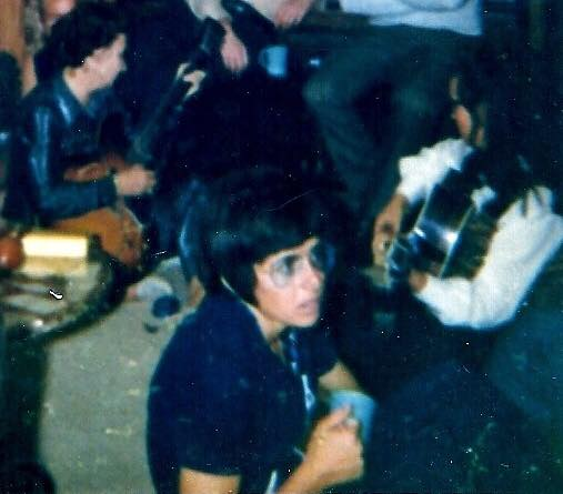 "Loretta Norton, via Facebook: ""Billy Jean King at party in the late 60s. I am at left playing guitar."""
