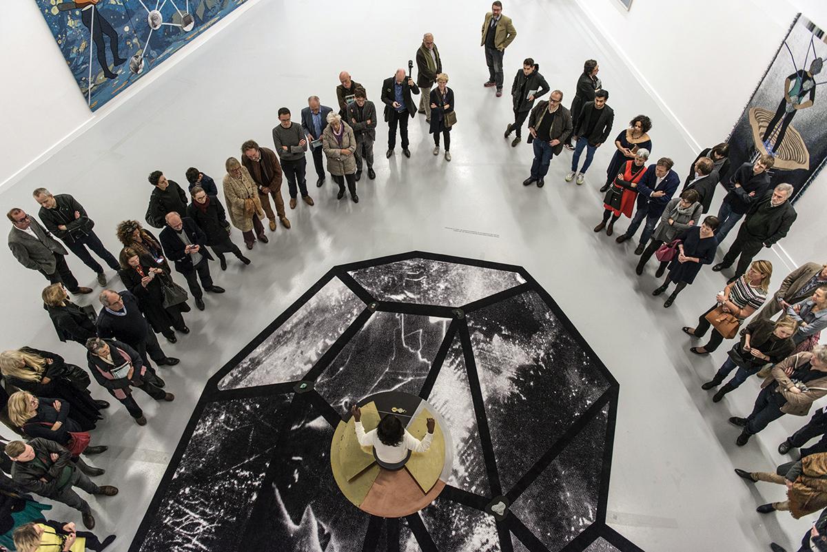 Otobong Nkanga, 'From Where I Stand: Glimmer,' 2015; performance at M HKA, Antwerp.