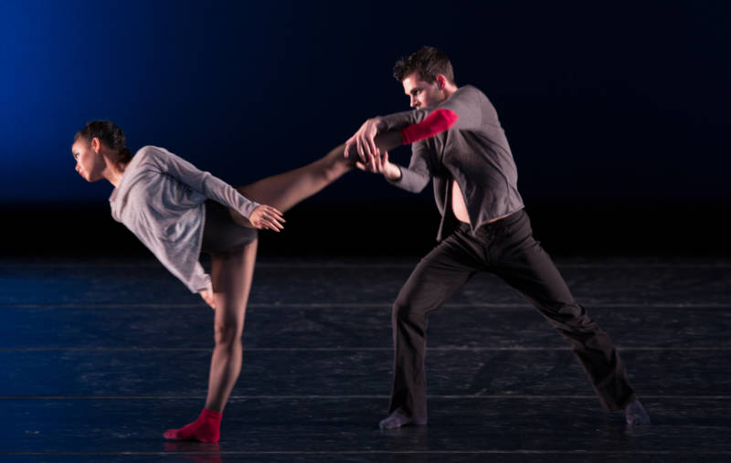 A moment from Wei Wang's first choreographic work for SF Ballet, 'Focus'