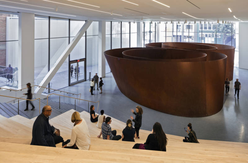 Roberts Family Gallery at SFMOMA, featuring Richard Serra's 'Sequence,' 2006.