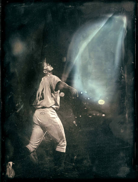 Tin Type of a player on the Stockton Ports