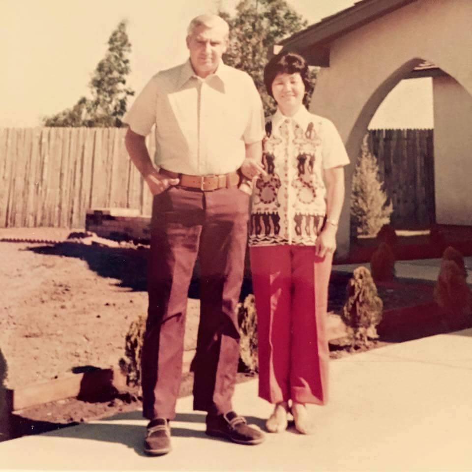 "Steve Quinlan, via Facebook: ""Robert & Tomiko Quinlan. Fairfield,1969."""