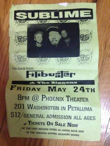 The flyer for Sublime's last show, May 24, 1996.