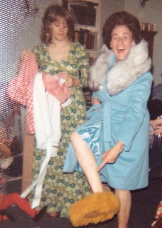 "Susan Sarra Kelly, via Facebook: ""Christmas '69. Me & my Mom"""