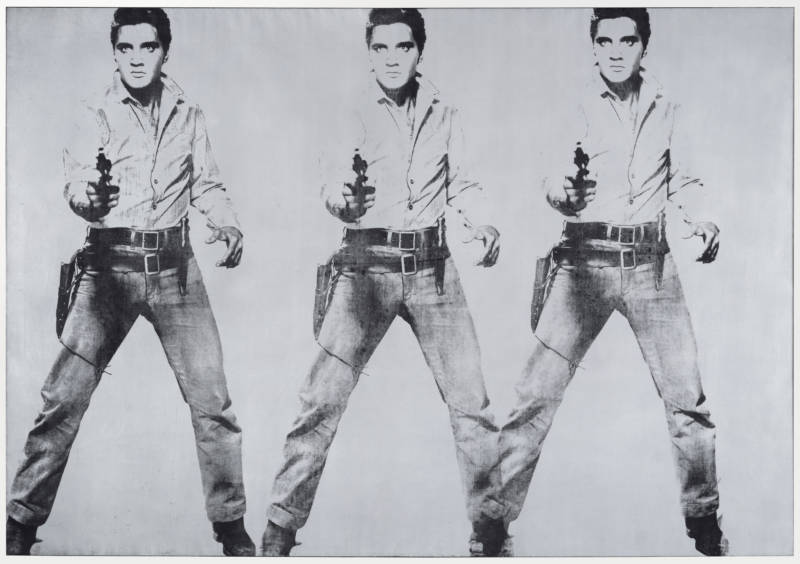 Andy Warhol, 'Triple Elvis', 1963; The Doris and Donald Fisher Collection at the San Francisco Museum of Modern Art