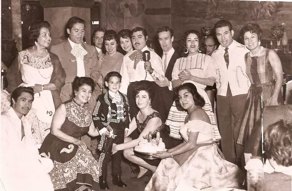 "Xochitl Selena Martinez, via Facebook: ""The Sinaloa nightclub in North Beach, S.F. me as a child, my mom, aunts and extended family 1965."""