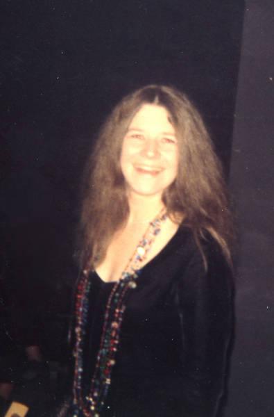 Polaroid photo of Janis Joplin backstage