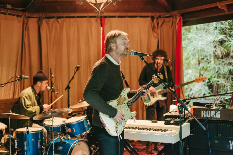 Dungen playing in the redwoods outside of Nicasio on May 7, 2016.