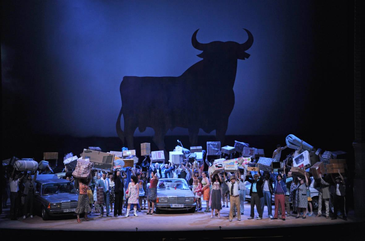 A scene from Calixto Bieito's production of Carmen. Photo: San Francisco Opera/A.Bofill