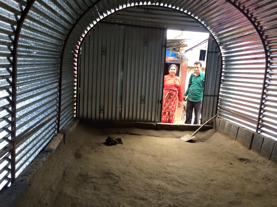 Zinc roofs provided for temporary relief