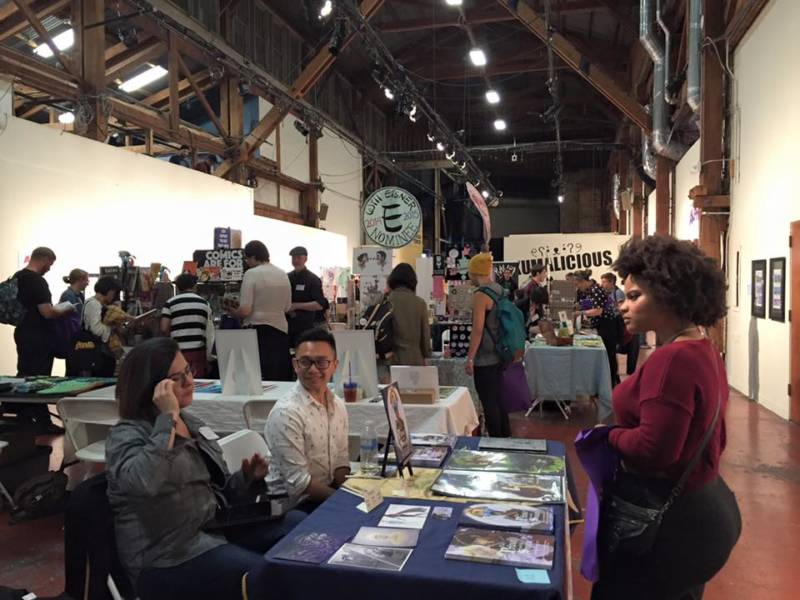 Artists and fans mingle at the Queer Comics Expo.