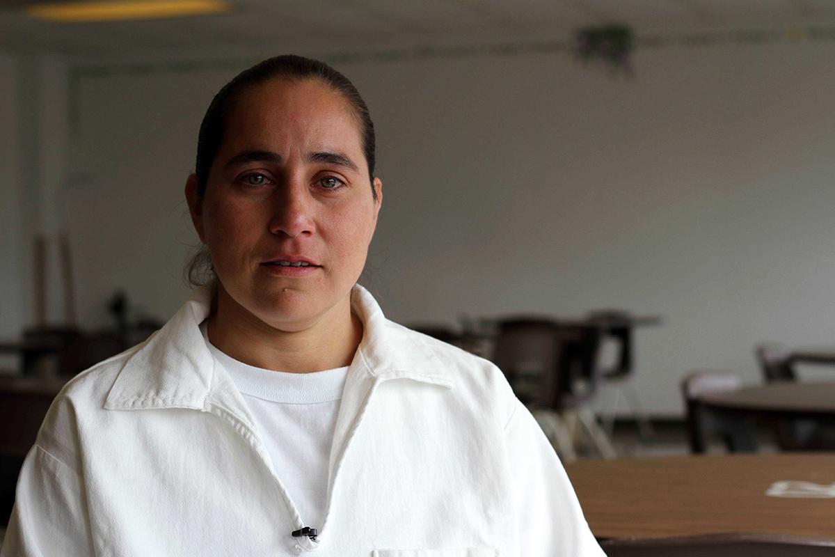 Anna Vasquez in the Hobby Prison Unit.