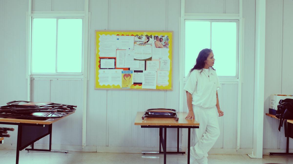 Cassie Rivera in the Lane Murray Prison Unit.