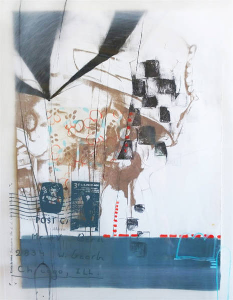 Lithograph with Screen Print and mixed media on paper and Plexiglas
