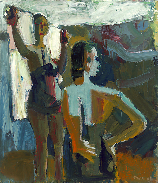 David Park, 'Two Bathers,' 1958. Collection SFMOMA, Purchase through gifts of Mrs. Wellington S. Henderson, Helen Crocker Russell, and the Crocker Family, by exchange, and the Mary Heath Keesling Fund.