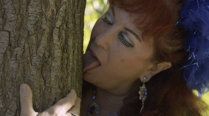 Tree hugging is so 'first base' for performance artist and card-carrying ecosexual Annie Sprinkle. Here she is at 'second base' and happy to go further in her effort to save the planet from ecological disaster