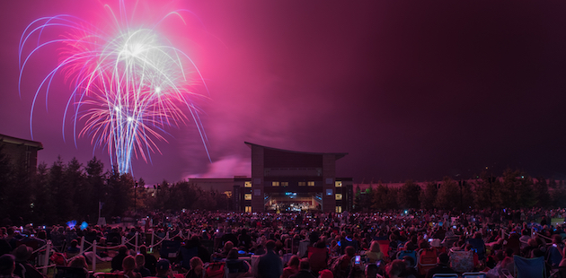 Fireworks at the Green Music Center at Sonoma State in Rohnert Park