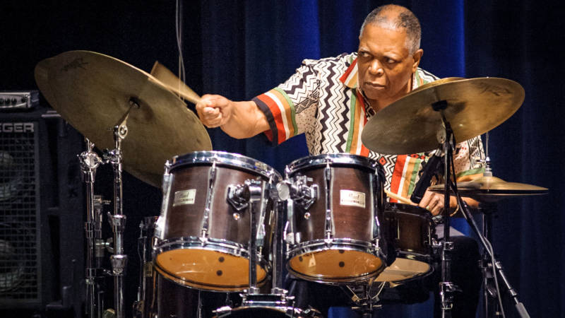 Billy Hart at the Healdsburg Jazz Festival, June 4, 2016.