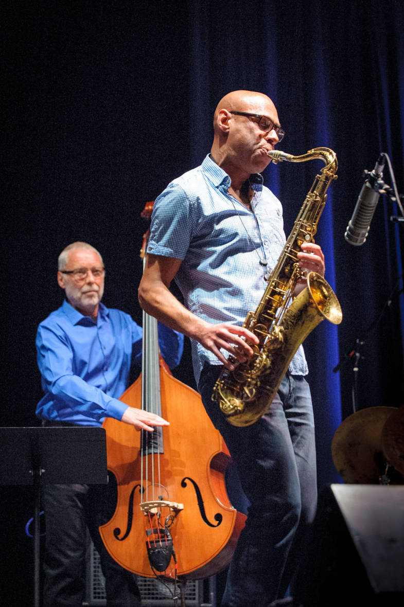 Dave Holland and Joshua Redman (L–R) at the Healdsburg Jazz Festival, June 4, 2016.