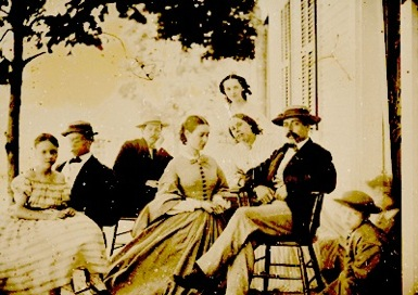 The Peralta Family on the porch of their hacienda in what is now Oaklands Fruitvale District