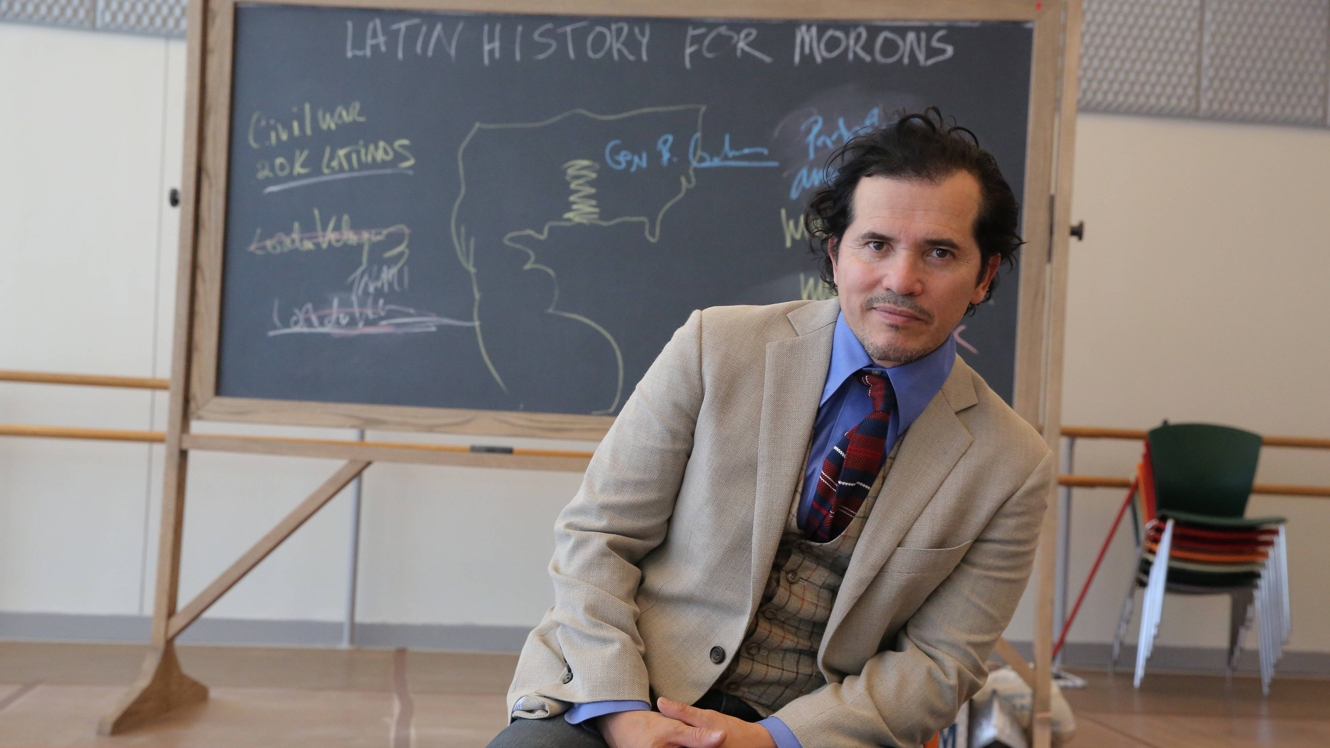 John Leguizamo in rehearsal for 'Latin History for Morons.' Photographed at New 42nd Street Studios