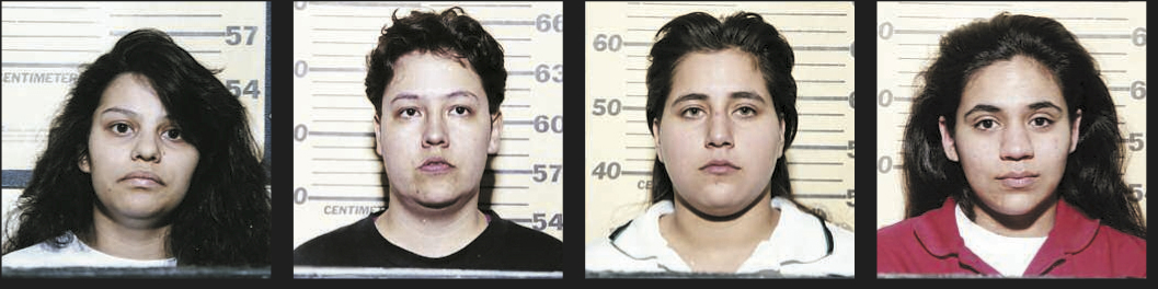 Mug shots of the San Antonio Four.