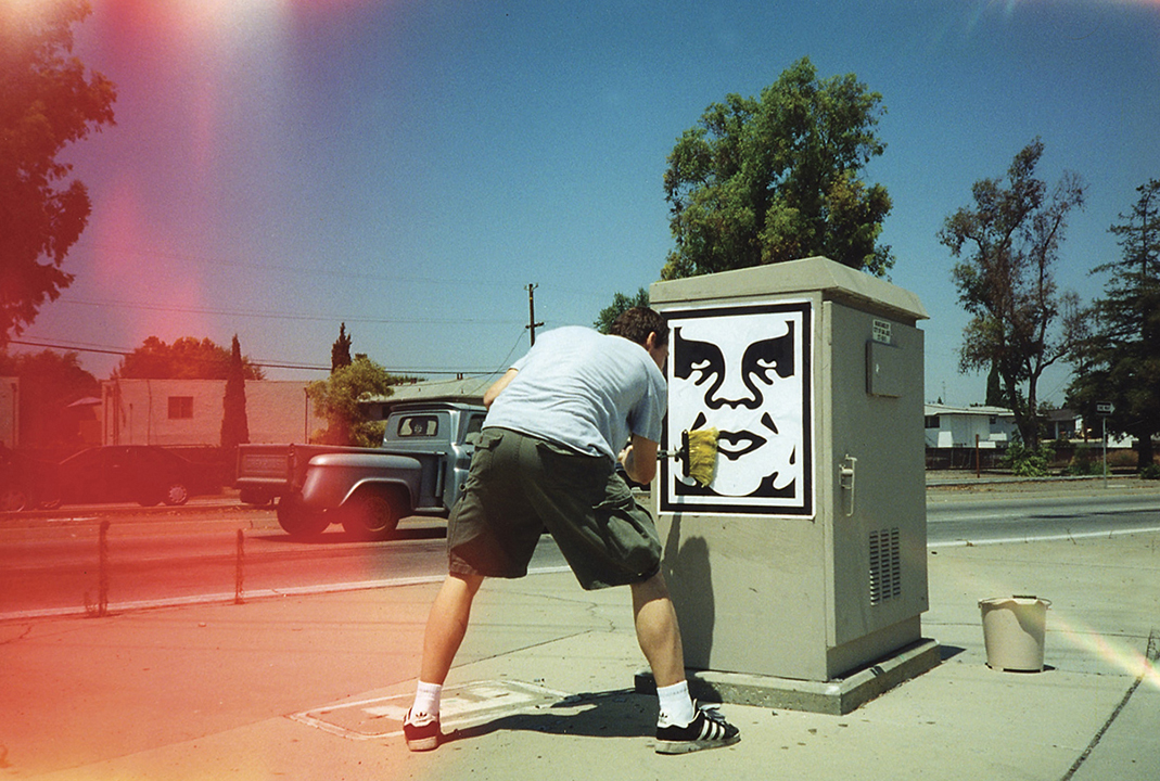 Shepard Fairey in San Jose 2000.