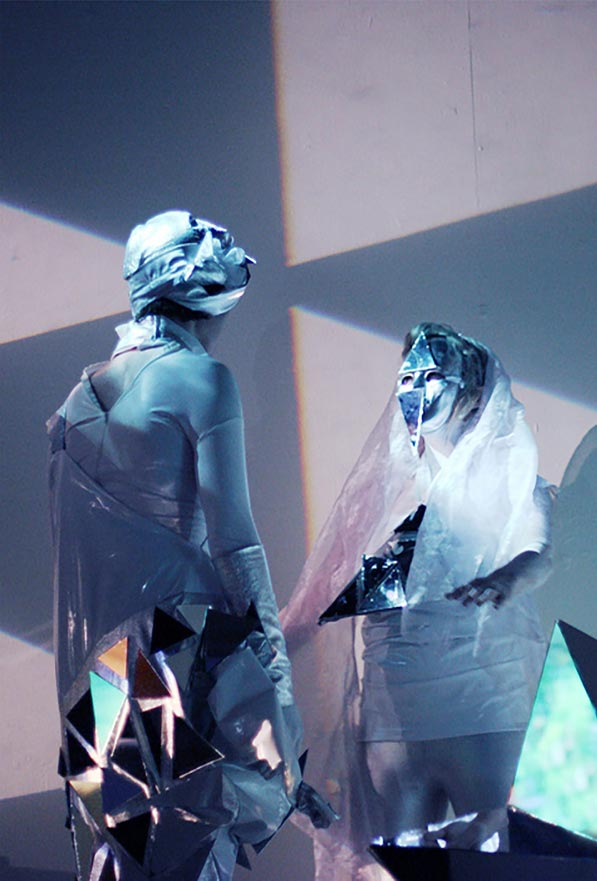 Suzy Poling performs 'Time Monument' at the Contemporary Jewish Museum on Sept. 1.