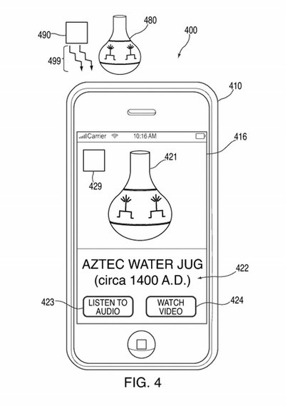 A drawing from Apple's new patent demonstrates its potential use in giving viewers more context