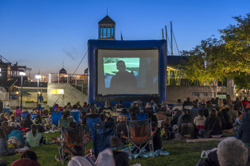 Crowds attend last year's Waterfront Flicks at Jack London Square.
