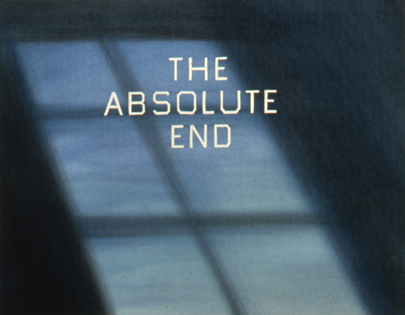 Ed Ruscha, 'The Absolute End,' 1982.
