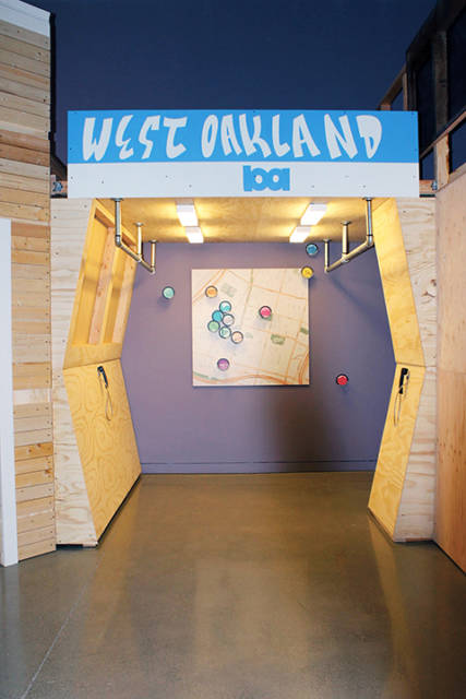 West Oakland BART display (Courtesy of OCMA).