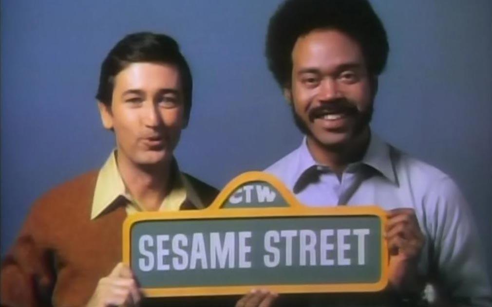"Bob McGrath and Matt Robinson (the original ""Gordon"") on 'Sesame Street' in the 1970s."