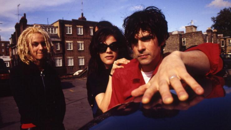 Hollis Queens, Cristina Martinez and Jon Spencer of Boss Hog, London, United Kingdom, 1995.