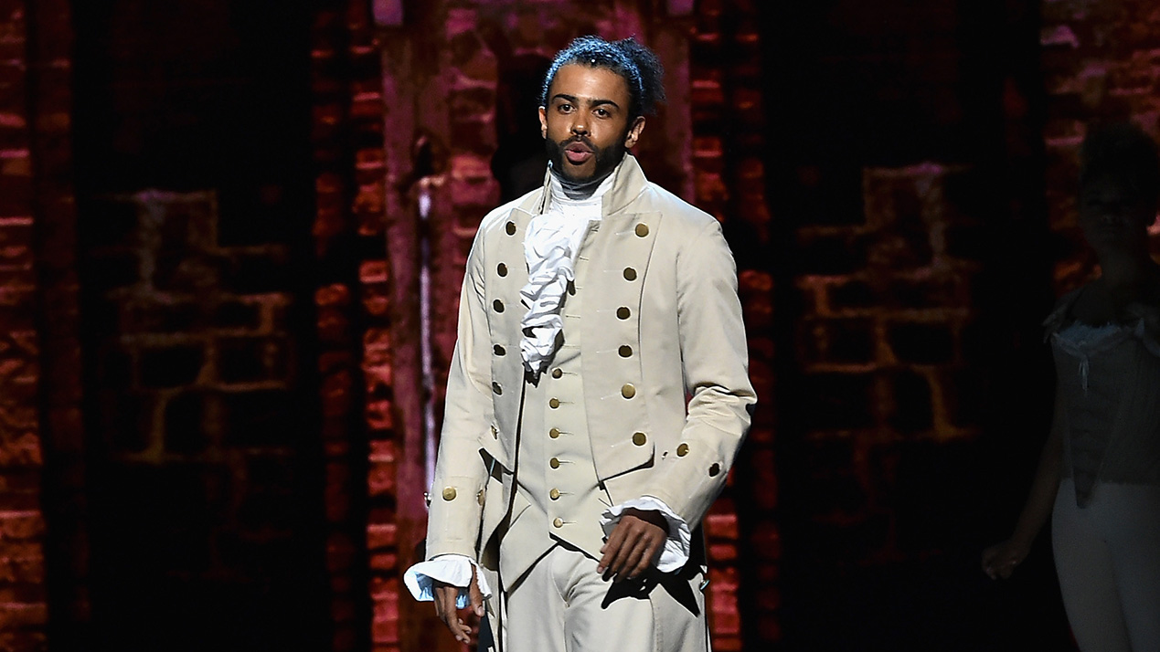 Daveed Diggs of 'Hamilton' performs onstage during the 70th Annual Tony Awards