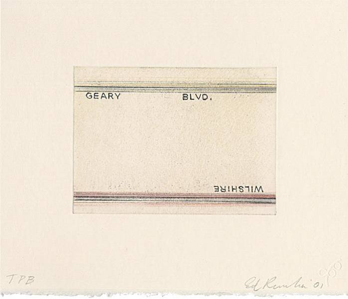 """Geary, Wilshire"" by Ed Ruscha at Crown Point Press"