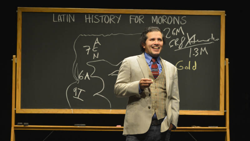 John Leguizamo gives a lecture, of sorts, in 'Latin History for Morons' at the Berkeley Rep.