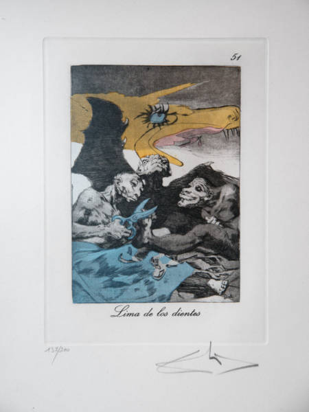 """Lima de los Dientes,"" an etching from ""Les Caprices De Goya De Salvador Dalí."" For many people, this is not what they imagine when they imagine Dalí."