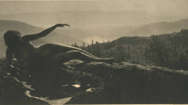 "Detail of Anne Brigman,'Dawn,' 1912. Photogravure from Camera Work No. 38. ""There's something poetic in every photograph,"" says Marianne McGrath, curator at New Museum Los Gatos."