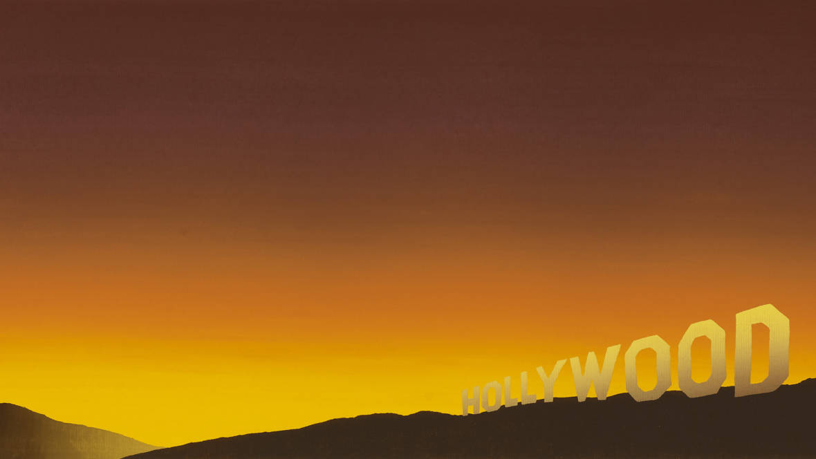 Ed Ruscha, Detail of 'Hollywood,' 1968.