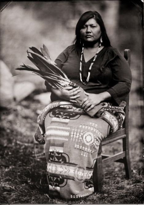 """""""Monica"""" 2014-15 Tintype by Ed Drew. Courtesy of the artist and Robert Koch Gallery, San Francisco."""