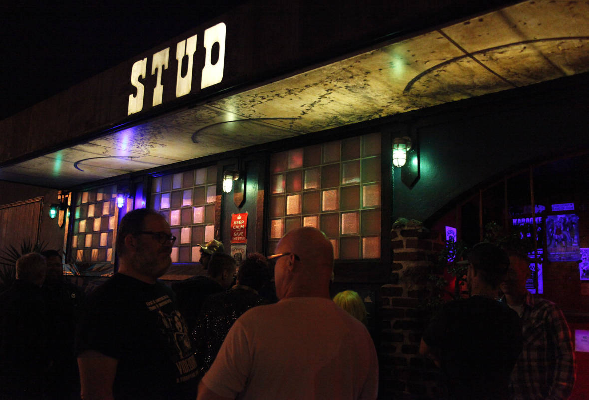 The Stud Bar, on Harrison and 9th Streets. Founded in 1966, it's one of San Francisco's oldest gay bars.  Brittany Hosea-Small/KQED