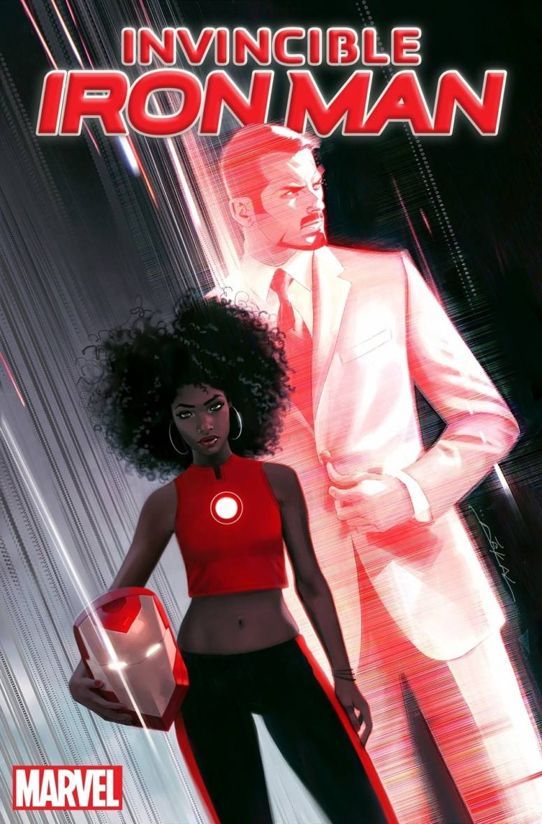 The cover of 'Invincible Iron Man,' with art by Jeff Dekal