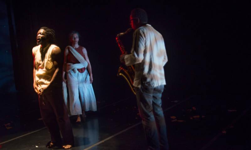 David Boyce, Byb Chanel Bibene and Chris Evans in 'Reconstruction Study #1'
