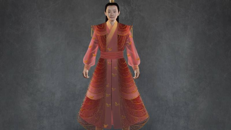 Costume design for Bao Yu, one of the main characters in 'Dream of the Red Chamber', a San Francisco Opera world premiere. Designs by Tim Yip Studio.