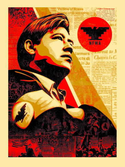Shepard Fairey x Jim Marshall Workers' Rights American Civics Series Serigraph 40 x 30 inches Edition of 100 2016