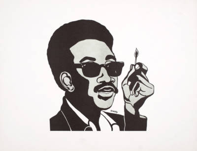 Emory Douglas, 'H. Rap Brown (Man with Match),' 1967.