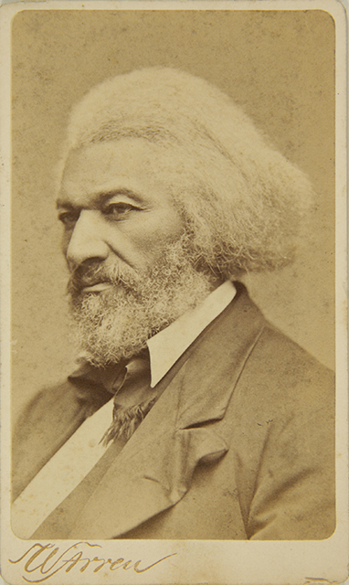Carte de visite of Frederick Douglass, c. 1879